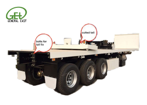 40ft Flatbed Semi Trailer , Container Shipment Flatbed Semi Trailer , Cheap Freight Flatbed Semi Trailer