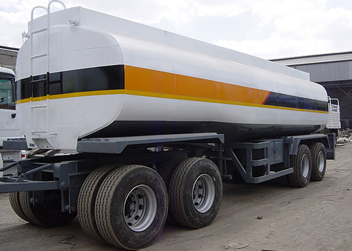 25000L Carbon Steel Draw Bar Tanker Trailer with 4 Axles for Fuel Or Diesel Liquid ,Refuel Carbon Steel Tanker Trailer