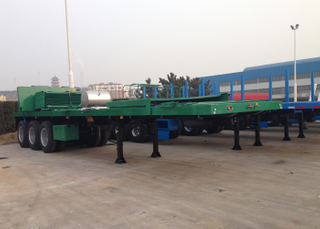 40ft FlatBed Semi Trailer with 3 Axles Can Ship with 40HC for Exportation freight saving