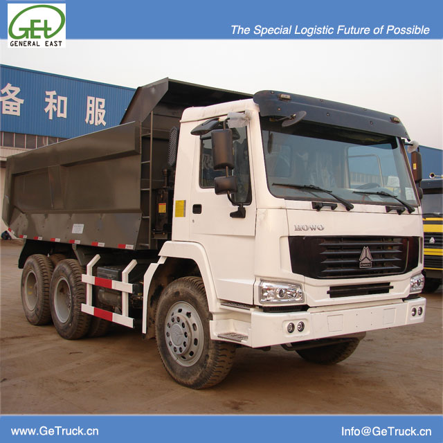 ZZ3257N3847B-SINOTRUK HOWO Tipper Truck with 336 HP Engine and 19 cbm Rear Hydraulic Box