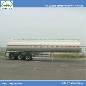 36cbm 3 Axles Carbon Steel Tanker Semi Trailer,High Quality Refuel Tanker Semi Trailer