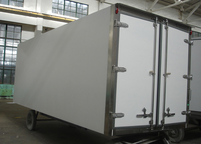 All - Closed FRP / GRP Refrigerated Truck Body And Sandwich Panel Kits,Germany Wet-Wet Composite