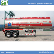 36000L Aluminum Tanker Semi-Trailer 2 axles for Heptane