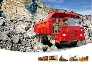 HOVA 3360hp MINE Dump Tipper Truck with 6*4 drive and 5.3m dump box-ZZ5607VDNB34400