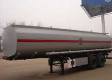 28cbm 2 Axles Carbon Steel Tanker Semi Trailer,High Quality City Fuel Transporter