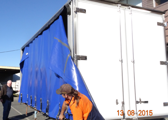 Curtain Side box with Composite and Aluminum Profiles for Dry Freight Cargos,Dry Freight Truck Box Or Van Trailers