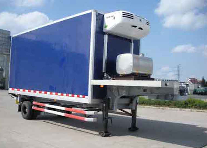 30 foot 1 axles Refrigerated semi trailer with Carrier Refrigerator units for freezing and fresh cargos,Refrigerator Trailers