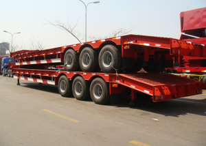 12.5m 70T Fixed Gooseneck ( FGN ) Low Bed Semi Trailer with 3 Axles for Heavy Machine,Low Bed Trailer