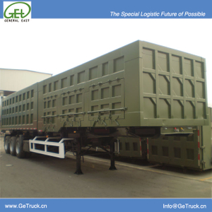 Double Purposed Hydraulic Dump Semi-Trailer with 27 cbm front Side Dump and 31 cbm Rear dump with 3 Axles for 60Tons