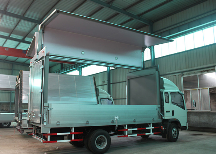 Wing-open box with Composite and Aluminum Profiles for Dry Freight Cargos,Dry Freight Truck Box Or Van Trailers