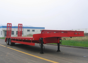 13m 30T Fixed gooseneck ( FGN ) Low Bed Semi Trailer with 2 axles for downtown Machine Transit,Low bed Trailer