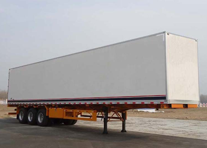 40ft Insulated Box Semi Trailer with 3 Axles for Food And Temperature Sensitive Cargos , Insulated Semi Trailer