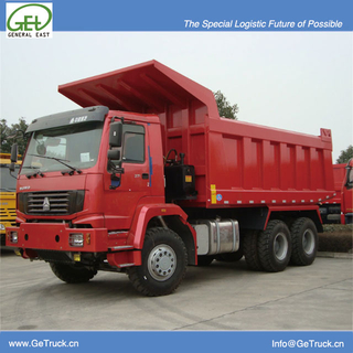 ZZ3257S3647W-SINOTRUK HOWO Tipper Truck with 371 HP Engine and 19 cbm Rear Hydraulic Box