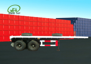 20ft Flatbed Semi Trailer , 50T Flatbed Trailer , Super Heavy Cargo Flatbed Truck Trailer , Truck Trailer
