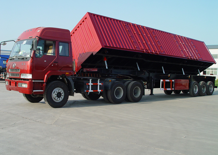 50cbm Dump Semi Trailer with 3 BPW Axles And Side Hydraulic Dumper for Mine And Construction Material, Dump Semi Trailer,Tipper