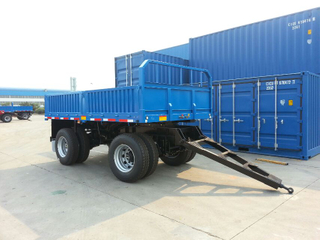 25 Feet 25T Draw Bar Drop Side Trailer with 2 Axles