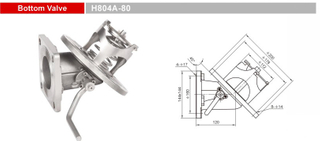 Stainless Steel Bottom Valves-Emergency Valves-GET H804A-80