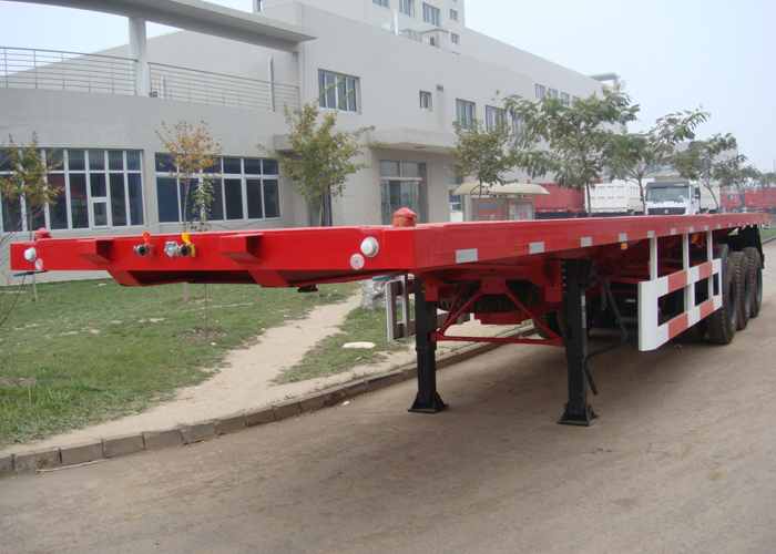40ft retractable FlatBed Semi Trailer with tail retractable for container shipment save freight