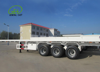 60T Flatbed Semi Trailer , 3 Axles Flatbed Trailer , 40ft Plate Form Semi Trailer, Super Heavy Cargo Flatbed Truck Trailer