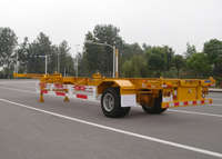 40ft Skeleton Semi Trailer with 1 Axle And Gooseneck for Light ISO Container, Skeleton Truck Trailer