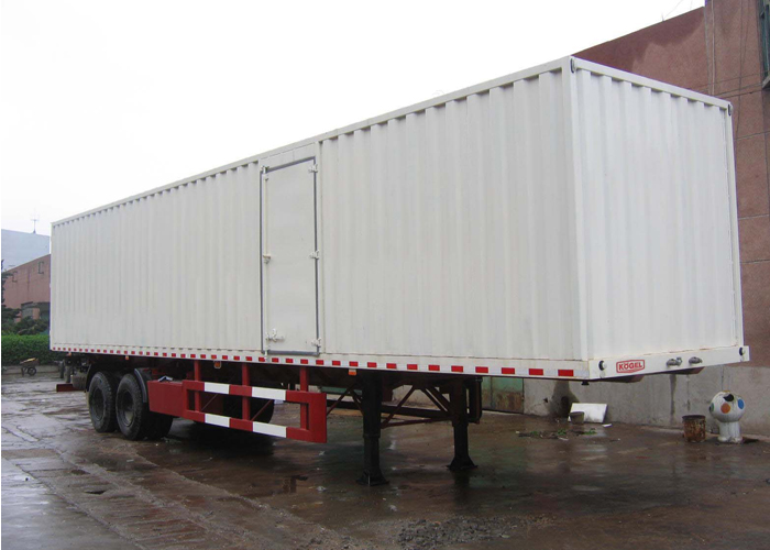 13m Closed Steel Dry Freight Box Trailer with 2 Axles for Bulk And Case Packed Cargos,Drop Side Semi Trailer