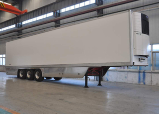 45ft 3 Axles Refrigerated Truck Trailer Single Tire with Carrier Refrigerator Units for Freezing And Fresh Cargos,Refrigerator Trailers