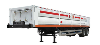 LH2 Tube Skid Semi-trailers with 8 Tubes And 2 Axles for 20000L CNG,CNG Tube Skid Tanker