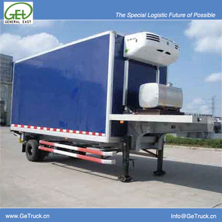 9061XLC-8600mm 1 axle Koegel FRP+PU+FRP composite Refrigerated semi-trailer