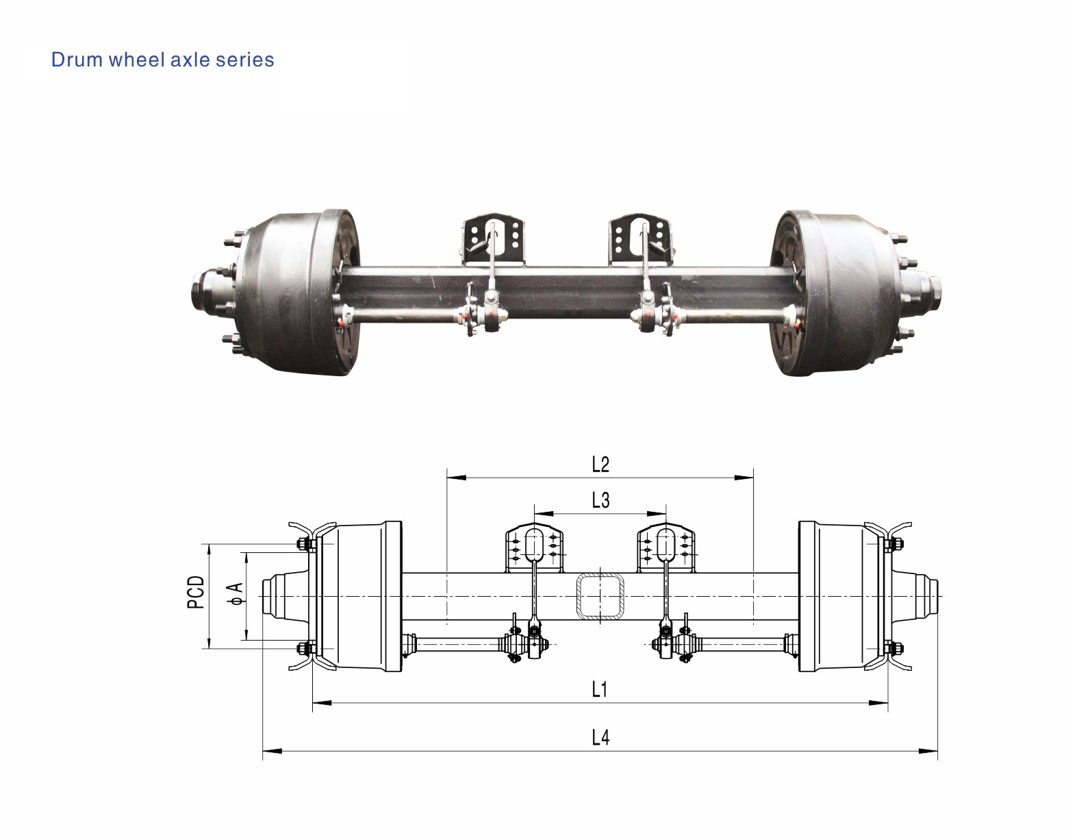 German Type Axles Drum Wheel Axle 8T-20T