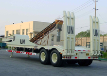 12.7m 40T Fixed Gooseneck ( FGN ) Low Bed Semi Trailer with 2 Axles for Construction Machine,Low bed Trailer